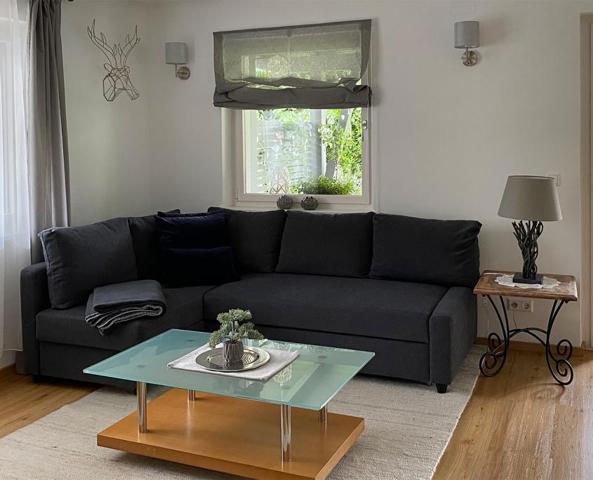 Urlaub im Gartenhaus - Wohnzimmer